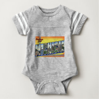 Greetings From Michigan Baby Bodysuit