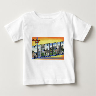Greetings From Michigan Baby T-Shirt