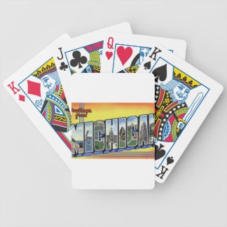 Greetings From Michigan Bicycle Playing Cards
