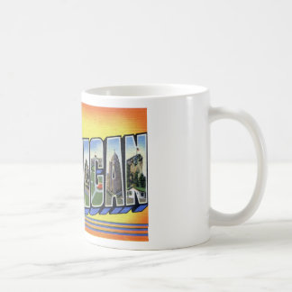 Greetings From Michigan Coffee Mug