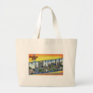 Greetings From Michigan Large Tote Bag