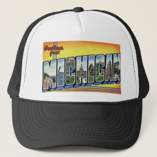 Greetings From Michigan Trucker Hat