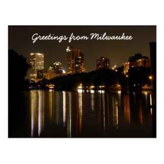 Greetings from Milwaukee Postcard