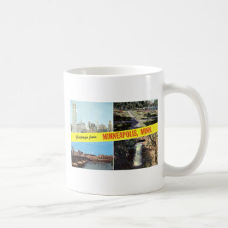 Greetings from Minneapolis 1950s Coffee Mug