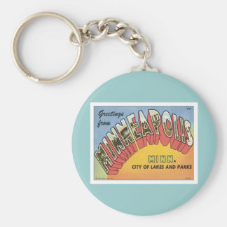 Greetings From Minneapolis Basic Round Button Keychain