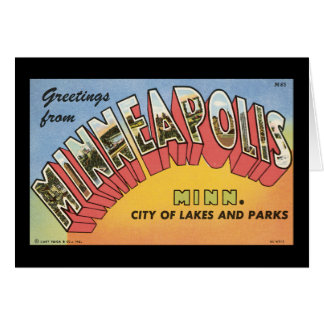 Greetings From Minneapolis Card