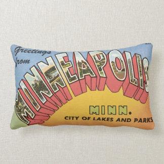Greetings From Minneapolis Lumbar Pillow
