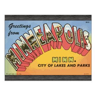 Greetings From Minneapolis Minn., Vintage Postcard