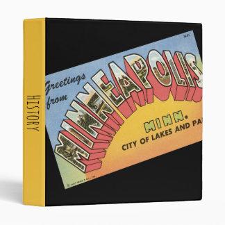 Greetings From Minneapolis Vinyl Binders