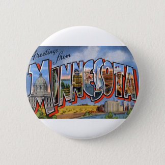 Greetings From Minnesota 2 Inch Round Button