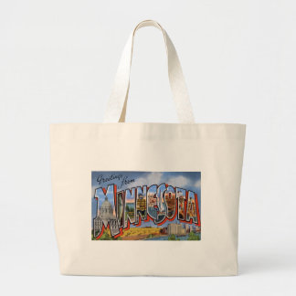 Greetings From Minnesota Large Tote Bag
