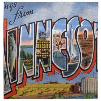 Greetings From Minnesota Napkin