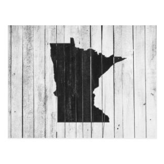 Greetings From Minnesota Rustic Wooden Postcard