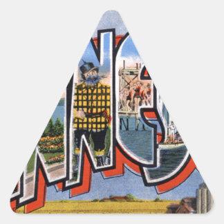 Greetings From Minnesota Triangle Sticker