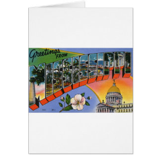 Greetings From Mississippi Card