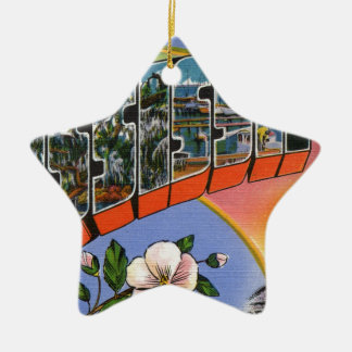 Greetings From Mississippi Ceramic Ornament