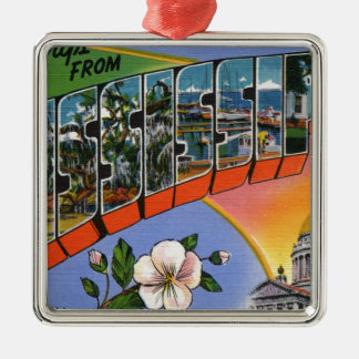 Greetings From Mississippi Metal Ornament