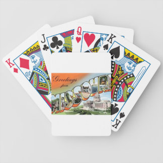 Greetings From Missouri Bicycle Playing Cards