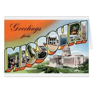 Greetings From Missouri Card