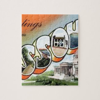Greetings From Missouri Jigsaw Puzzle