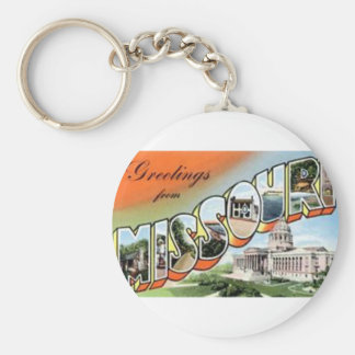 Greetings From Missouri Keychain