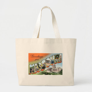 Greetings From Missouri Large Tote Bag