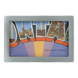 Greetings From Montana Belt Buckle