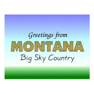 Greetings from Montana Postcard