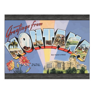 Greetings From Montana State Capital In Helena, Vi Postcard