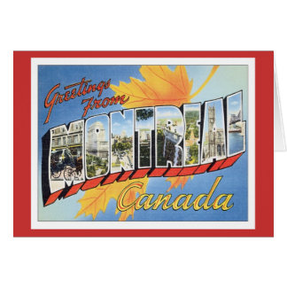 Greetings From Montreal Canada Greeting Card