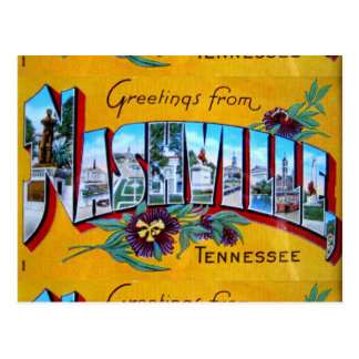 Greetings from Nashville Postcard