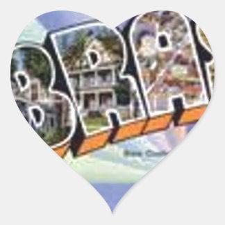 Greetings From Nebraska Heart Sticker