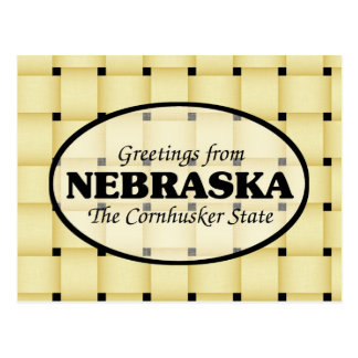 Greetings from Nebraska Postcard