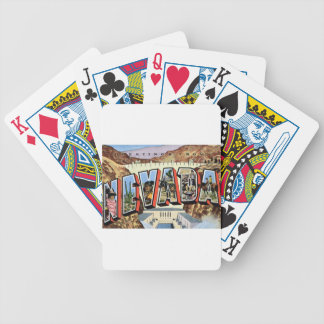 Greetings From Nevada Bicycle Playing Cards