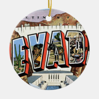 Greetings From Nevada Ceramic Ornament