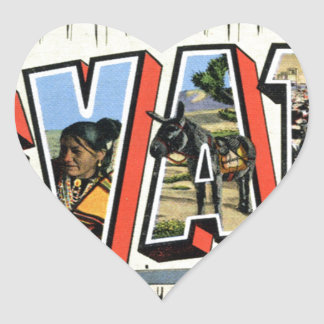 Greetings From Nevada Heart Sticker