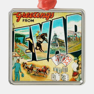 Greetings From Nevada Metal Ornament
