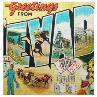 Greetings From Nevada Napkin