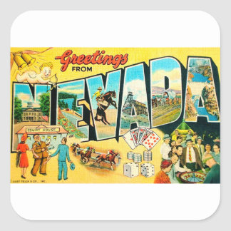 Greetings From Nevada Square Sticker