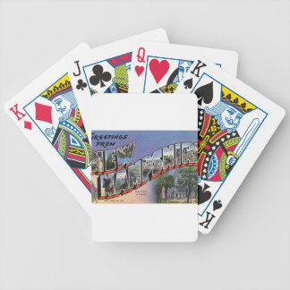 Greetings From New Hampshire Bicycle Playing Cards