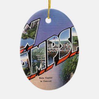 Greetings From New Hampshire Ceramic Ornament