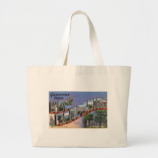 Greetings From New Hampshire Large Tote Bag