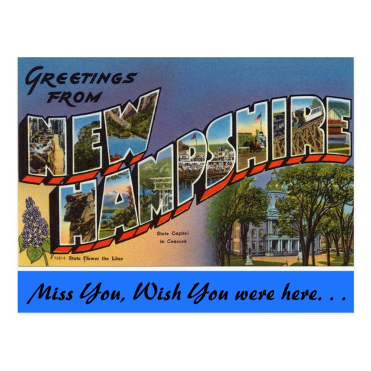 Greetings from New Hampshire Postcard