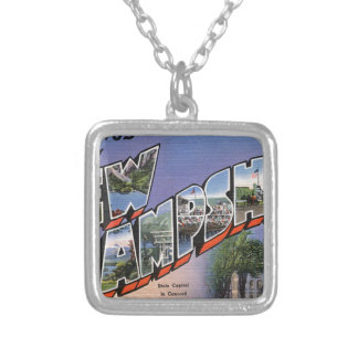 Greetings From New Hampshire Silver Plated Necklace