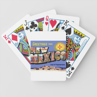 Greetings From New Mexico Bicycle Playing Cards