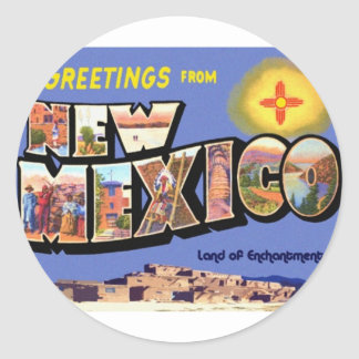 Greetings From New Mexico Classic Round Sticker