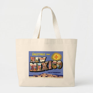 Greetings From New Mexico Large Tote Bag