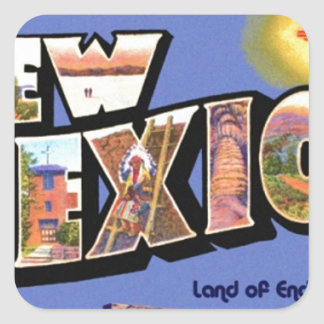 Greetings From New Mexico Square Sticker