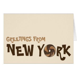 Greetings from New York City Marble Rye Bagel NYC Card