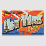 Greetings From New York City Rectangular Stickers